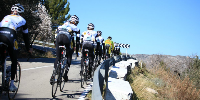 Training on the Coll de Ratas